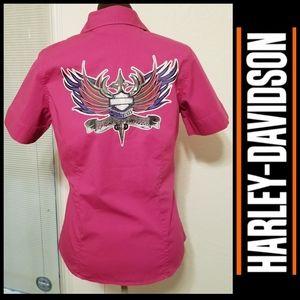 Harley Davidson Button Down